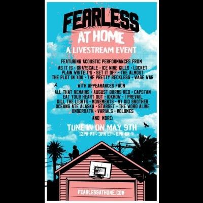 FEARLESS AT HOME: Livestream-Event mit AUGUST BURNS RED, UNDEROATH, I PREVAIL und weiteren