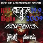ASPHYX, POSTMORTEM, GOREGAST, BURNING STEEL: Berlin, K17: 19.09.2009AS