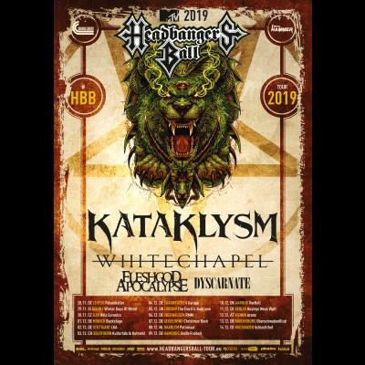 KATAKLYSM: Tour mit WHITECHAPEL, FLESHGOD APOCALYPSE und DYSCARNATE