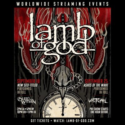 LAMB OF GOD: Konzerte am 18. & 25. September im Live-Stream