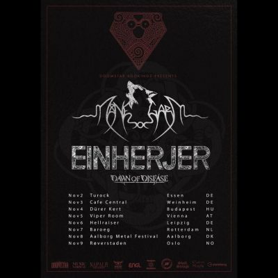 MÅNEGARM: Tour mit EINHERJER & DAWN OF DISEASE