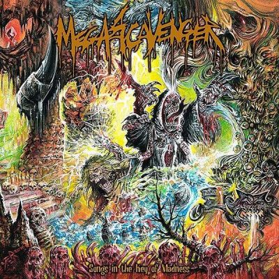 "MEGASCAVENGER: Lyric-Video vom neuen Death Metal Album ""Songs in the Key of Madness"""
