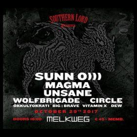 Konzert mit SUNN O))), MAGMA, UNSANE in Amsterdam