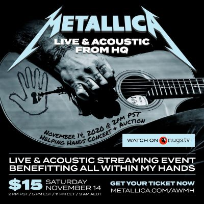 "METALLICA: ""Live & Acoustic From HQ"" Konzert als Live-Stream am 14. November"