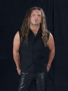 Mystic Prophecy - Sänger und Bandkopf R.D. Liapakis 2005