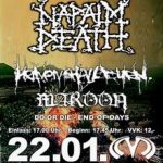 NAPALM DEATH (Exklusive Pre-Listening-Session): Bochum, Matrix – 22.01.2005