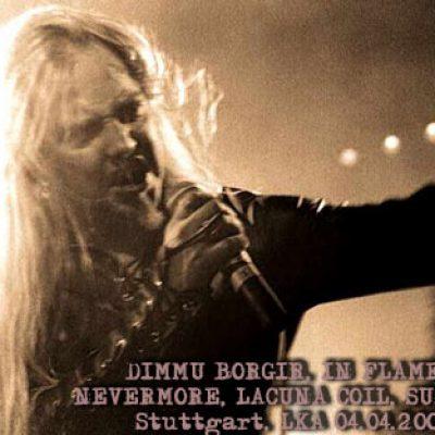 DIMMU BORGIR, IN FLAMES, NEVERMORE, LACUNA COIL, SUSPERIA, Stuttgart, LKA 4. 4. 2001