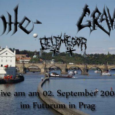 NILE, GRAVE, BELPHEGOR und AMON DIA: 02. September 2008 im Futurum in Prag