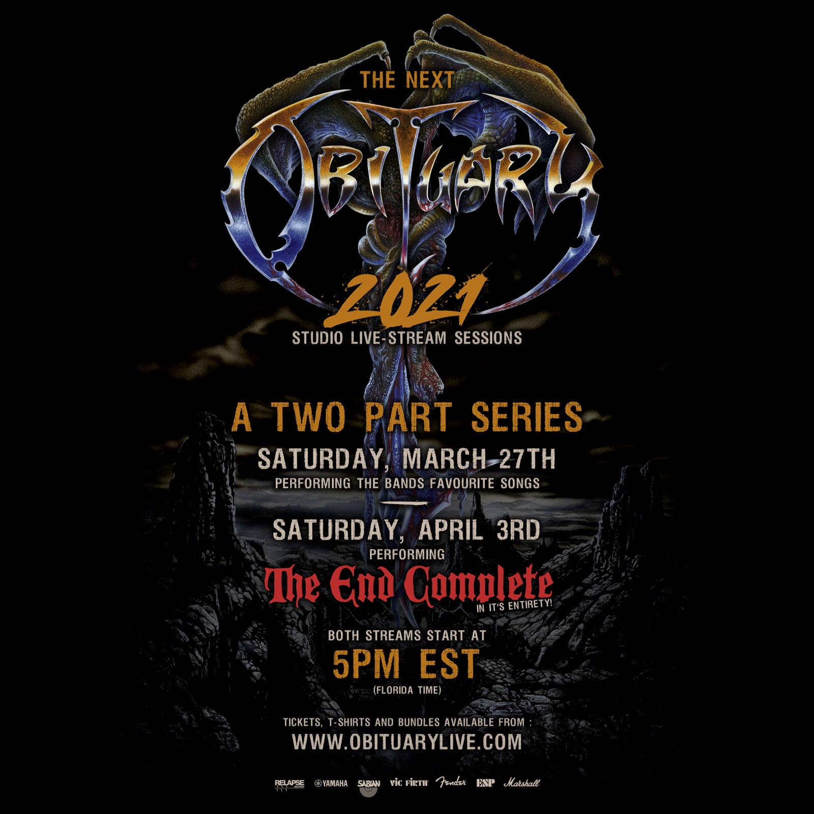 OBITUARY: Livestream am 27. März & 3. April • Livestreams, News •  vampster.com