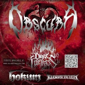 A DECADE OF PROGRESSIVE DEATH METAL mit OBSCURA, DARK FORTRESS, ILLEGIMITATION, HOKUM: Alte Kaserne, Landshut, 15.12.2012