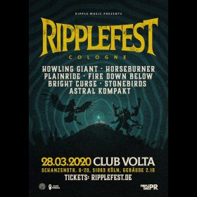 RIPPLEFEST COLOGNE 2020: Stoner & Heavy Rock-Konzert in Köln