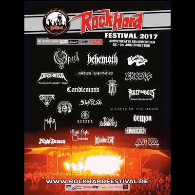 ROCK HARD FESTIVAL 2017: mit OPETH, CANDLEMASS; BLUES PILLS