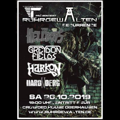 RUHRGEWALTEN: Konzert in Oberhausen am 26. Oktober