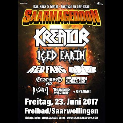 SAARMAGEDDON 2017: mit KREATOR & ICED EARTH
