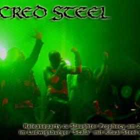 "SACRED STEEL: Releaseparty zu ""Slaughter Prophecy"" mit Ritual Steel und Wizard"