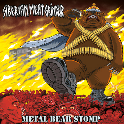 "SIBERIAN MEAT GRINDER ""Metal Bear Stomp"" CD Cover"