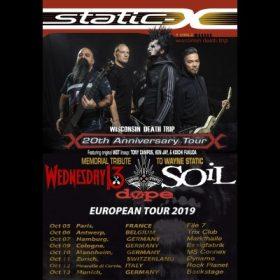 STATIC-X: kündigen Europatour im Oktober an