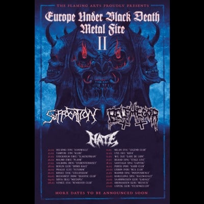 SUFFOCATION: Tour mit BELPHEGOR und HATE im Februar 2020