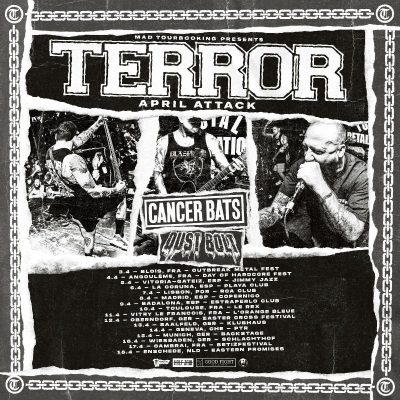 "TERROR: ""April Attack""-Tour im April mit CANCER BATS und DUST BOLT"