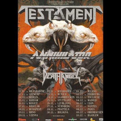 testament-annihilator-death-angel-tour-2017 Brotherhood of the snake