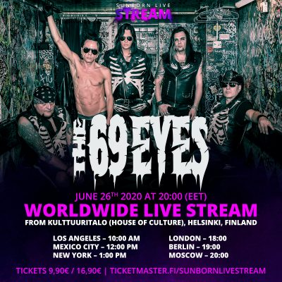 THE 69 EYES: Livestream aus Helsinki am 26. Juni 2020