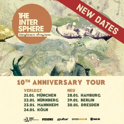 "THE INTERSPHERE: Jubiläumstour zu ""Interspheres><Atmospheres"" verschoben"