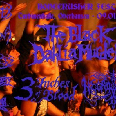 BONECRUSHER FEST mit THE BLACK DAHLIA MURDER, 3 INCHES OF BLOOD, NECROPHOBIC, THE FACELESS, CARNIFEX, OBSCURA, INGESTED und BEAST WAR RETURNS in der Turbinenhalle Oberhausen am 09.01.2010